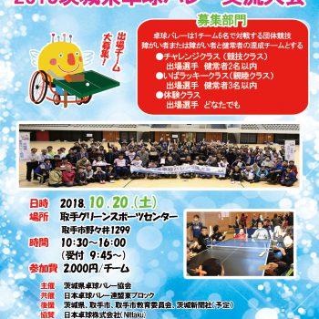 2018茨城県卓球バレー交流大会